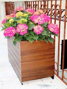 Fioriera in plastica PVC, fioriere legno, fioriere